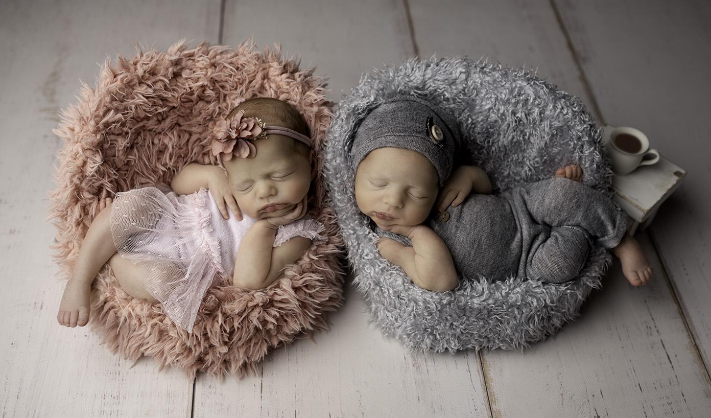 sesja noworodkowa bliźniąt